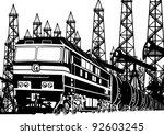 amtrak locomotive with oil on... | Shutterstock . vector #92603245