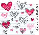 valentine's day hearts   love... | Shutterstock .eps vector #92613349
