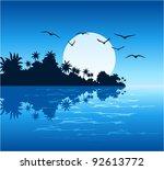 Stock vector vector tropical island 92613772