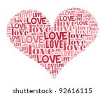 love info-text graphics and arrangement concept on white background - stock photo