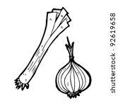 leek and onion illustration...