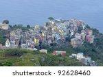 Corniglia fisherman village in Cinque Terre, Italy - stock photo