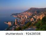 Monte Carlo, Monaco at sunrise - stock photo