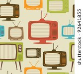tv retro seamless pattern....
