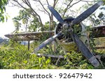 front offset view of crashed... | Shutterstock . vector #92647942
