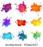 paint splat | Shutterstock .eps vector #92662327