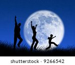 happy family running and... | Shutterstock . vector #9266542