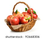 Jonagold Apples In A Basket On...