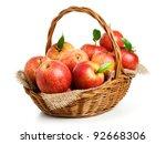 Jonagold Apples In A Basket On...