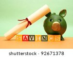 A concept related to saving early in a childs life for their future education. - stock photo