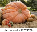 Giant Pumpkin Display With...