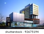 3d render of a building | Shutterstock . vector #92675194