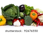 vegetables isolated over white | Shutterstock . vector #92676550