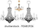 luster chandelier vector 43 | Shutterstock .eps vector #92681926