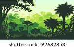 vector tropical rainforest... | Shutterstock .eps vector #92682853
