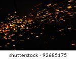 glowing flow of sparks in the... | Shutterstock . vector #92685175