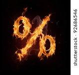 Fire Alphabet Percent Sign