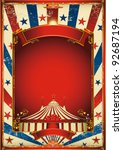 nice vintage circus background... | Shutterstock .eps vector #92687194