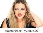 smiling teenager girl portrait. ... | Shutterstock . vector #92687665