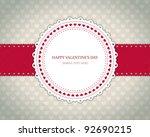 valentines day vintage card... | Shutterstock .eps vector #92690215