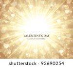 shiny hearts bokeh light... | Shutterstock .eps vector #92690254