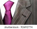 detail of a men's striped...   Shutterstock . vector #92692774