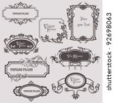 vintage frames and design... | Shutterstock .eps vector #92698063
