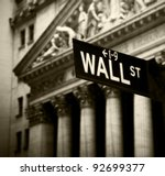 Wall Street Sign In Lower...