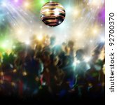 Discotheque With Disco Ball And ...
