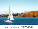 Stock photo canadian sailboat in the autumn 92704546
