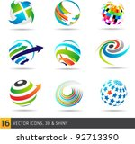 collection of abstract vector... | Shutterstock .eps vector #92713390