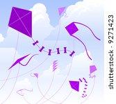 vector depiction of kites... | Shutterstock .eps vector #9271423