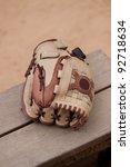 leather baseball glove on the... | Shutterstock . vector #92718634