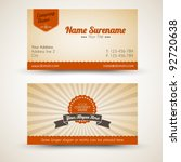 vector old style retro vintage... | Shutterstock .eps vector #92720638