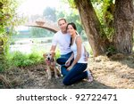 Couple In Love With Dog In...