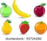 cartoon orange  banana  apples  ... | Shutterstock .eps vector #92724280
