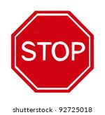 stop sign made by pastel on