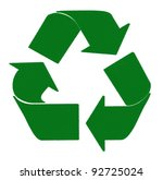 recycle concept made by pastel... | Shutterstock . vector #92725024