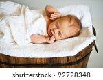 portrait of a newborn caucasian ... | Shutterstock . vector #92728348