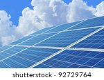 solar power for electric... | Shutterstock . vector #92729764