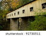 detail of a covered bridge in...