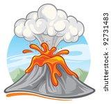 volcano   Shutterstock .eps vector #92731483