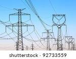 jungle of high voltage  power... | Shutterstock . vector #92733559
