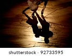 skating silhouette of people... | Shutterstock . vector #92733595