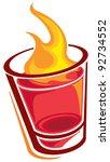 shot glass | Shutterstock .eps vector #92734552