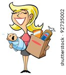 mother   Shutterstock .eps vector #92735002