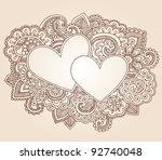hearts henna mehndi valentine's ...