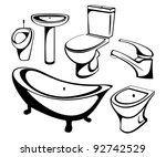 the sanitary technician set.... | Shutterstock . vector #92742529