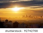 Los Angeles Skyline At Sunrise...