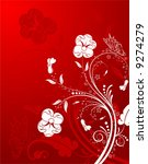 flower background with... | Shutterstock .eps vector #9274279
